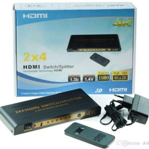 Selector y Spliter HDMI 2inx4out ULTRA HD 4k hasta 20 mts  SP-HDMI24