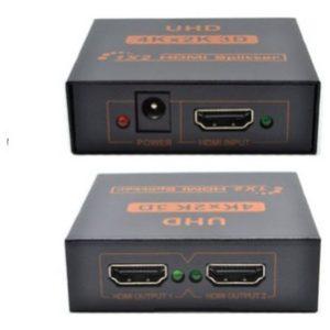 DISTRIBUIDOR SPLITTER HDMI 1X2 Ultra HD 4K hasta 15 mts 24 AWG SP-H12K